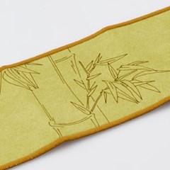 GZBL-008 대나무 무늬 장형 찻잔 받침