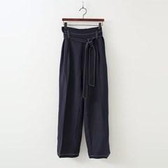 Linen Stitch Baggy Pants