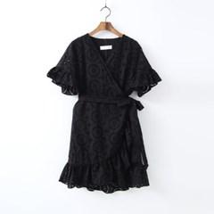 Lace Wrap Mini Dress