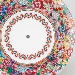 GZBL-020 꽃 무늬 도자기 차호 받침