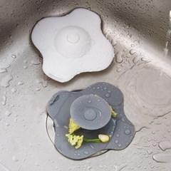 크로스 원터치 주방 욕실 배수구 거름망