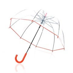 TW 베이직 투명 비닐 우산 돔모양 장우산