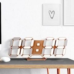 무소음 전자식 스마트 벽걸이 디지털 LED 벽시계 골드