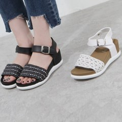kami et muse Pattern fabric band tall up sandals_KM19s314