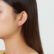 [925실버]엔틱 에메랄드 원터치 귀걸이