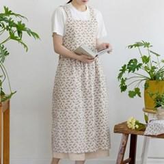 [Fabric] 베이지 그룸 플라워 린넨 Beige Groom Flower Linen