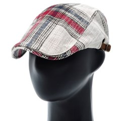 [더그레이]PMH47.거즈면 빅체크 헌팅캡 남성 모자