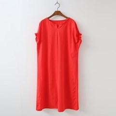 Linen Puff Silt Long Dress