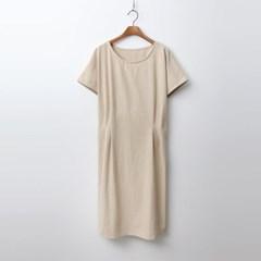 Linen Cotton Pintuck Dress