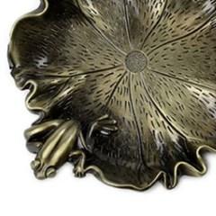 PJ190109-21 청동 하엽 위 개구리 찻잔 받침