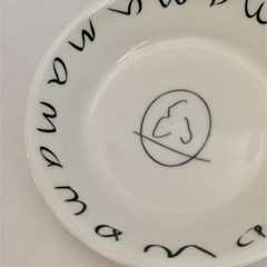 Mama _ lettered frame small dish
