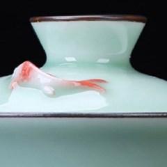 [2210032] 청자 대만식 물고기 개완 125ml