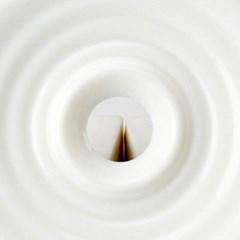 CJ190115-2 순백 도자기 물방울 디자인 찻잔 사케소주잔 받침세트