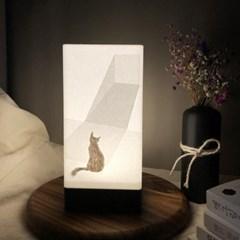창밖이 궁금해 고양이 LED무드등