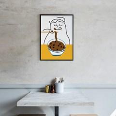 유니크 인테리어 디자인 포스터 M 소울푸드 자장면2 짜장면 중국