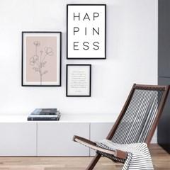 Happiness 행복 글귀포스터