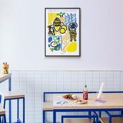 유니크 인테리어 디자인 포스터 M 노랗고 파란 실내 앙리 마티스