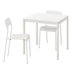 이케아 MELLTORP-ADDE 2인용 테이블세트