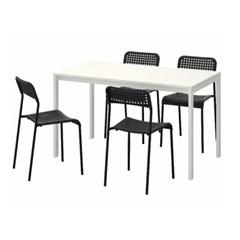 이케아 MELLTORP-ADDE 4인용 테이블세트