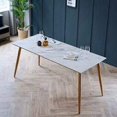 제나 화이트 세라믹 4인용 식탁 테이블 1400_(2110376)