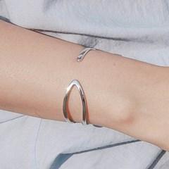 두줄 925실버 뱅글 팔찌 독특한 은뱅글 (SB128 Needle)