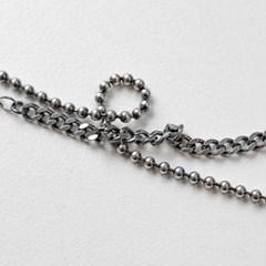 925실버 다크 볼 체인발찌 은발찌 (SB122 Dark Ball Chain)