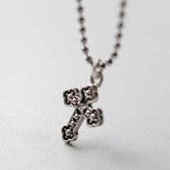 다크크로스 은목걸이 십자가 목걸이 (SN289 Dark Cross)