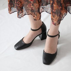 kami et muse 6.5cm chunky heel ankle strap pumps_KM19s322