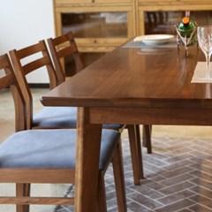 로이퍼니처랩 모리아 월넛 무늬목 6인 식탁 세트_(2335980)