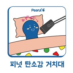 피넛 탄소강 스마트폰/태블릿 아이패드 침대 거치대 자바라 포함