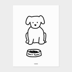 [카멜앤오아시스] Don't Touch! 강아지 포스터