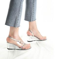 kami et muse Clear top flip flop wedge sandals_KM19s328