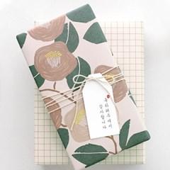 동백꽃 포장지(3개)