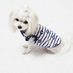 마린닻 핸드메이드 여름용 강아지티셔츠(2color)