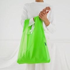 [바쿠백] 휴대용 장바구니 접이식 시장가방 Neon Green_(1721893)