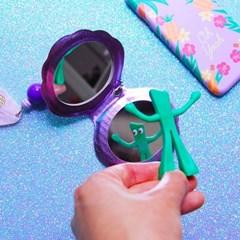 홀로그램 조개 손거울 키링(퍼플)