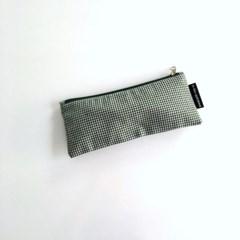 초록 체크 필통(Green check pencil case)