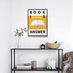 유니크 인테리어 디자인 포스터 M 북이즈 앤써 독서