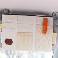 차량 썬바이저 카드 포켓 1개(랜덤)