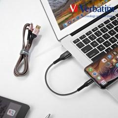 버바팀 라이트닝 8핀 to USB-A 케블라 케이블 30cm