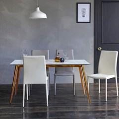 제나 화이트 세라믹 6인용 식탁 세트 1800 A_(2116266)