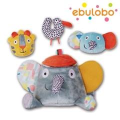 [에불로보] 프랑스 국민 애착인형 액티비티 코끼리와 세친구들