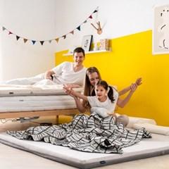 엄마토퍼 침대 매트리스 접이식 바닥 토퍼 슈퍼싱글