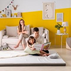 엄마토퍼 침대 매트리스 접이식 바닥 토퍼 라지킹