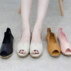 kami et muse Soft fit toe open daily flat_KM19s340