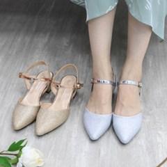 kami et muse Glittering strap middle heel pumps_KM19s339