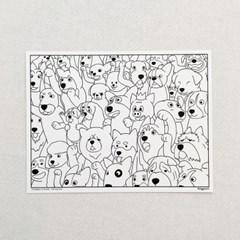 '코기맨과 친구들' 컬러링 카드