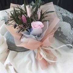 마론핑크 프리저브드플라워 장미꽃다발