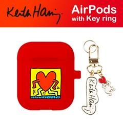 스키누 x Keith Haring 에어팟케이스+키링