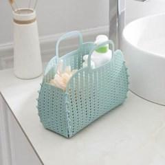 매쉬 다용도 목욕바구니 1개(색상랜덤)